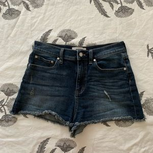 VS PINK High Waisted Jean Shorts